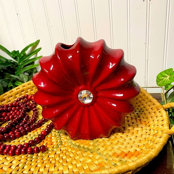 Hobby Lobby Floral Red Vase